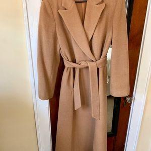 Vintage Harvé Benard camel hair trench coat